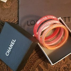 CHANEL Jewelry - Chanel gift set Coco bangles, box and LV bag